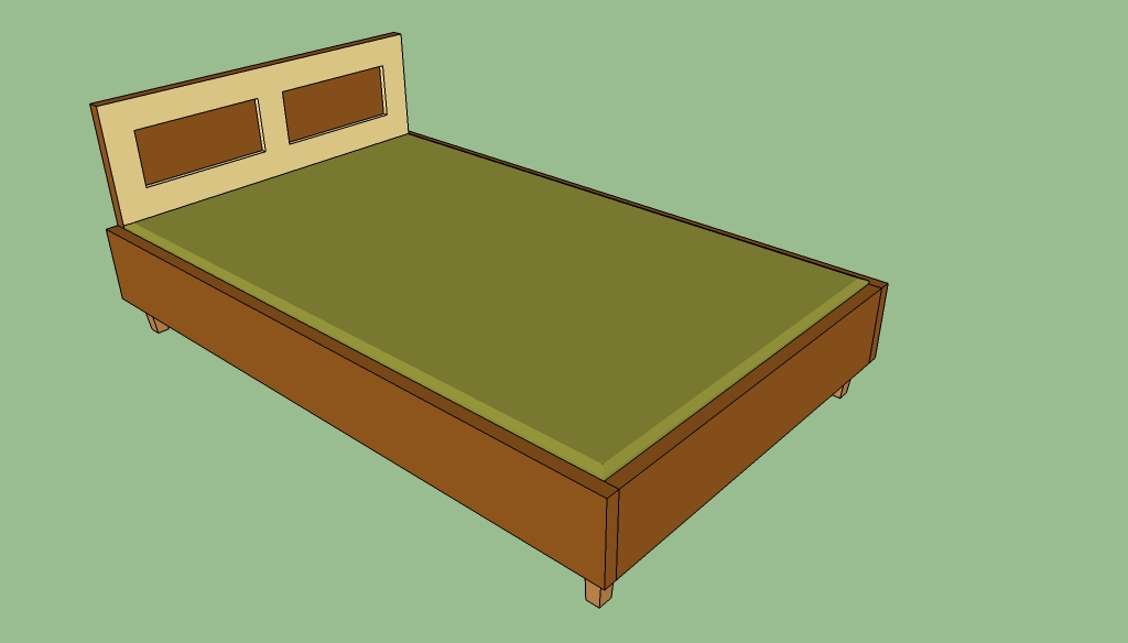 Wood queen bed frame plans free easy diy idea projects Simple wood bed frame designs