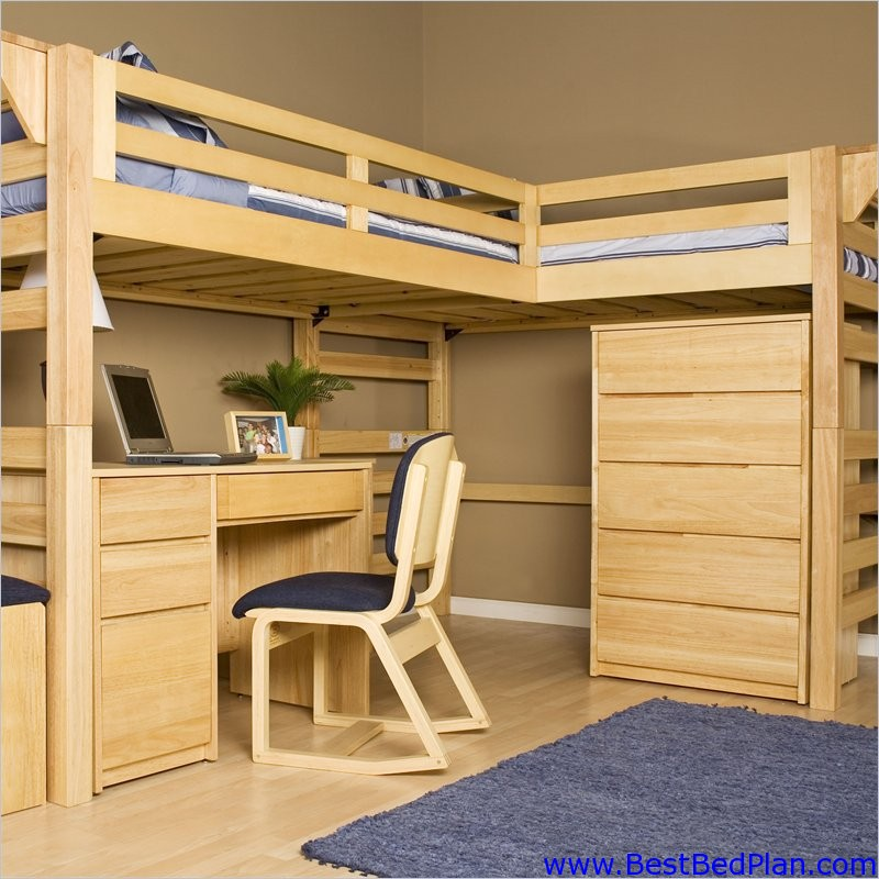 Loft bed plans pdf woodworking for Bunk bed woodworking plans