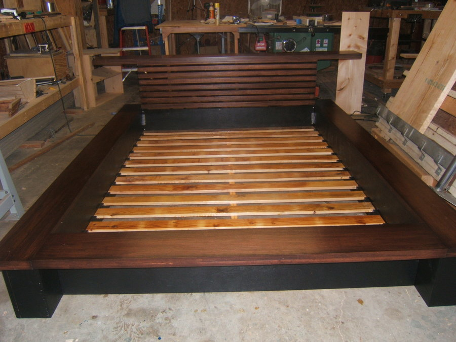 king size wood platform bed frames
