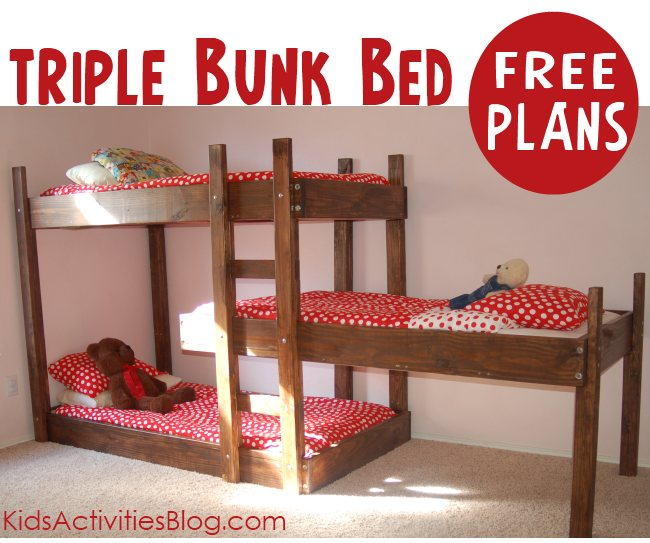 Triple Bunk Bed Plans Loft Beds And Bunk Beds Buying Ready Made Vs Bed Plans