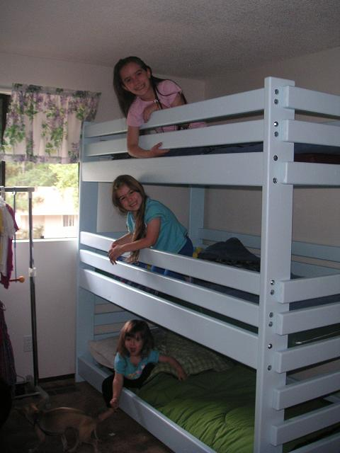 Permalink to plans for building a triple bunk bed