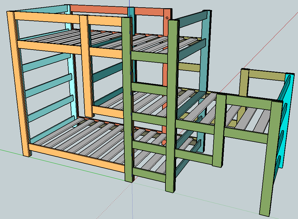 Triple bunk bed plans loft beds and bunk beds buying for Bunk house plans