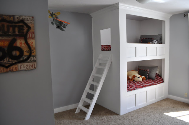 Built In Bunk Bed Plans Loft Bed Plans Uncover The
