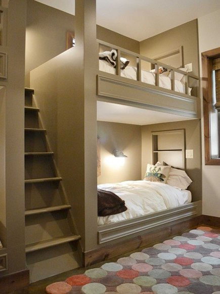 bunk bed plans built in