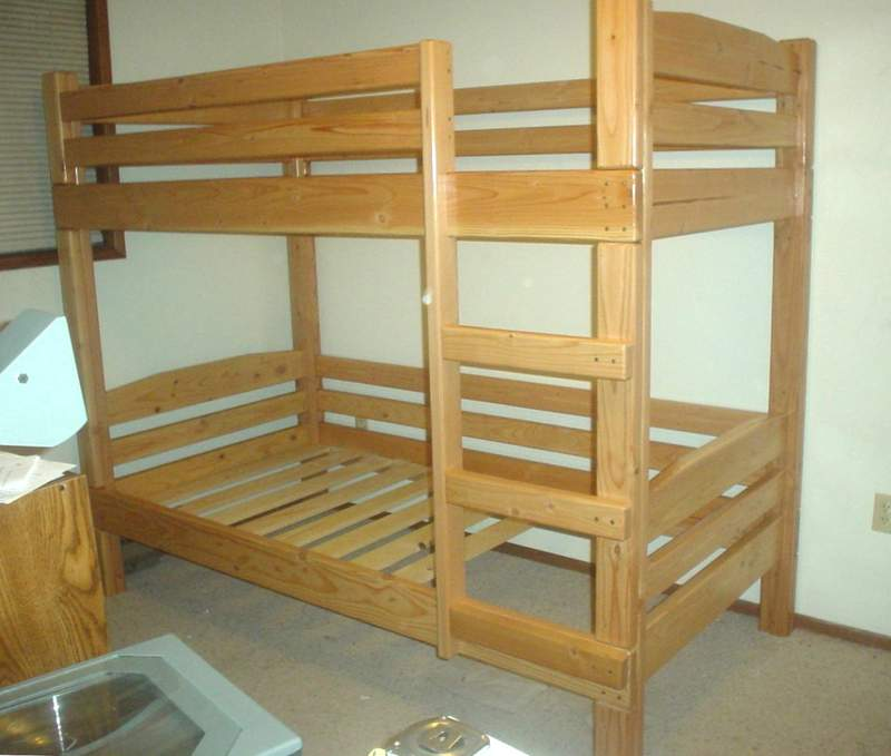 Pdf diy full size bunk bed plans download free woodworking for Narrow width bunk beds