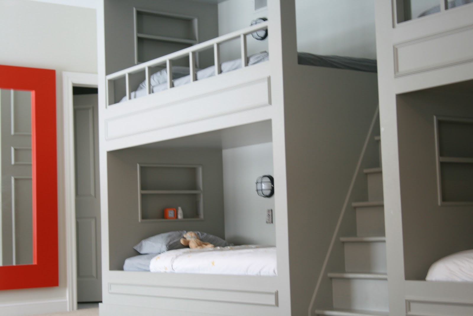 Image Result For Twin Over Full Bunk Bed With Built In Stairs
