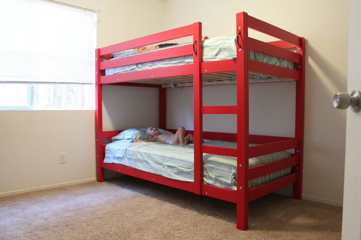 free plans for building bunk beds | Quick Woodworking Projects