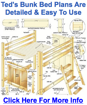 Bunk bed plans free bed plans diy blueprints for Bunk bed woodworking plans