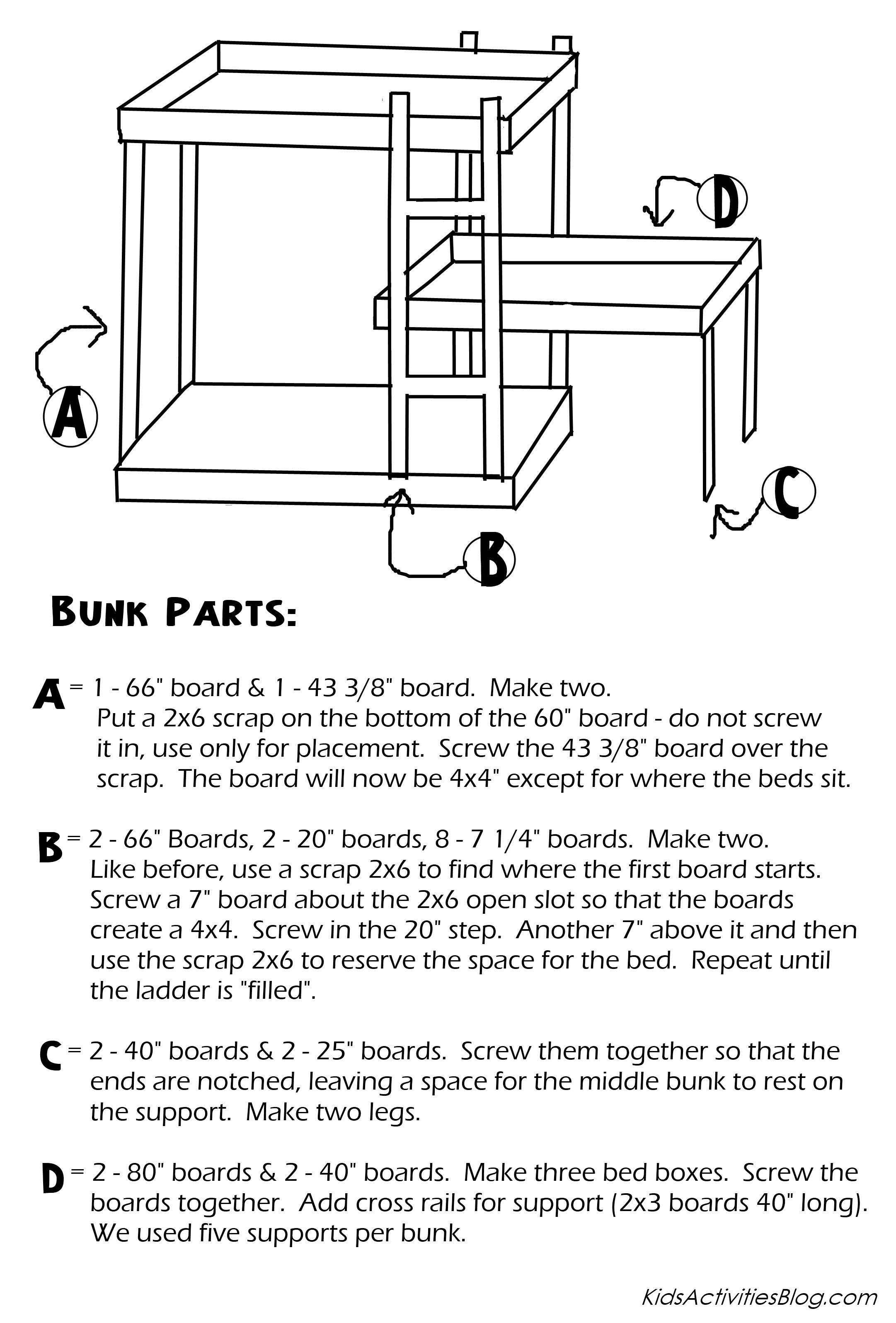 bunk bed plans free pdf