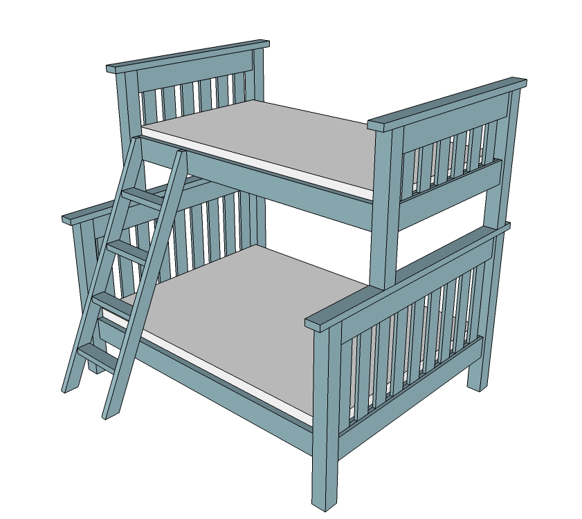 twin over full bunk bed plans pdf woodworktips