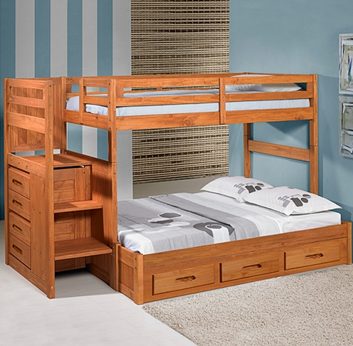 Bunk bed plans with stairs free woodworktips for Bunk bed woodworking plans