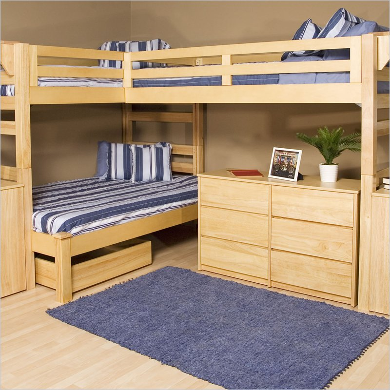 Diy bunk bed plans bed plans diy blueprints for Bunk house plans