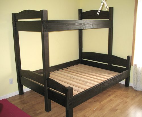 Diy bunk bed plans bed plans diy blueprints for Simple bed diy