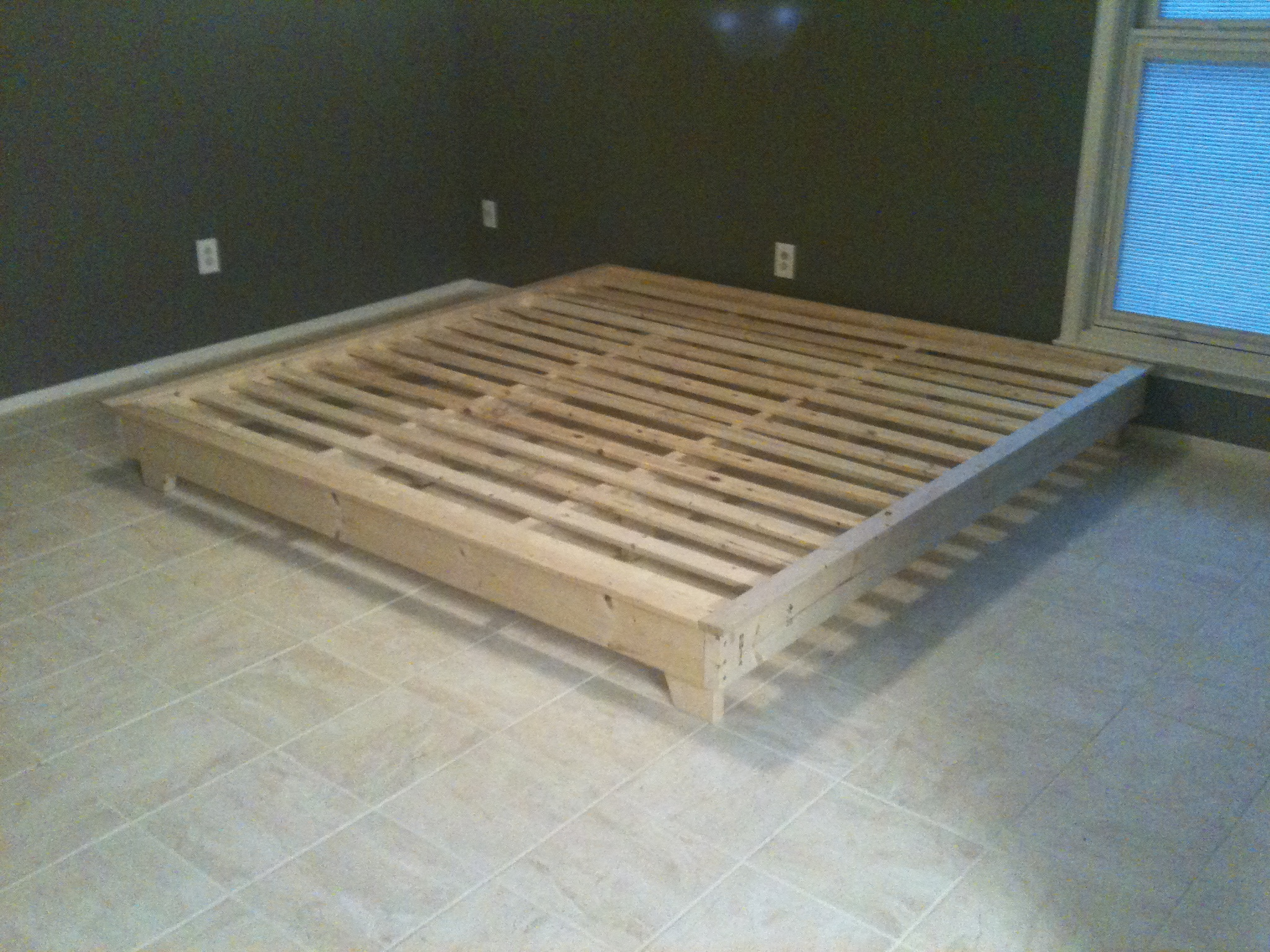 simple platform bed frame plans