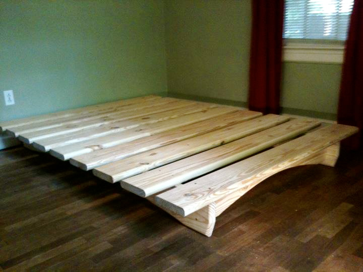 building king platform bed frame