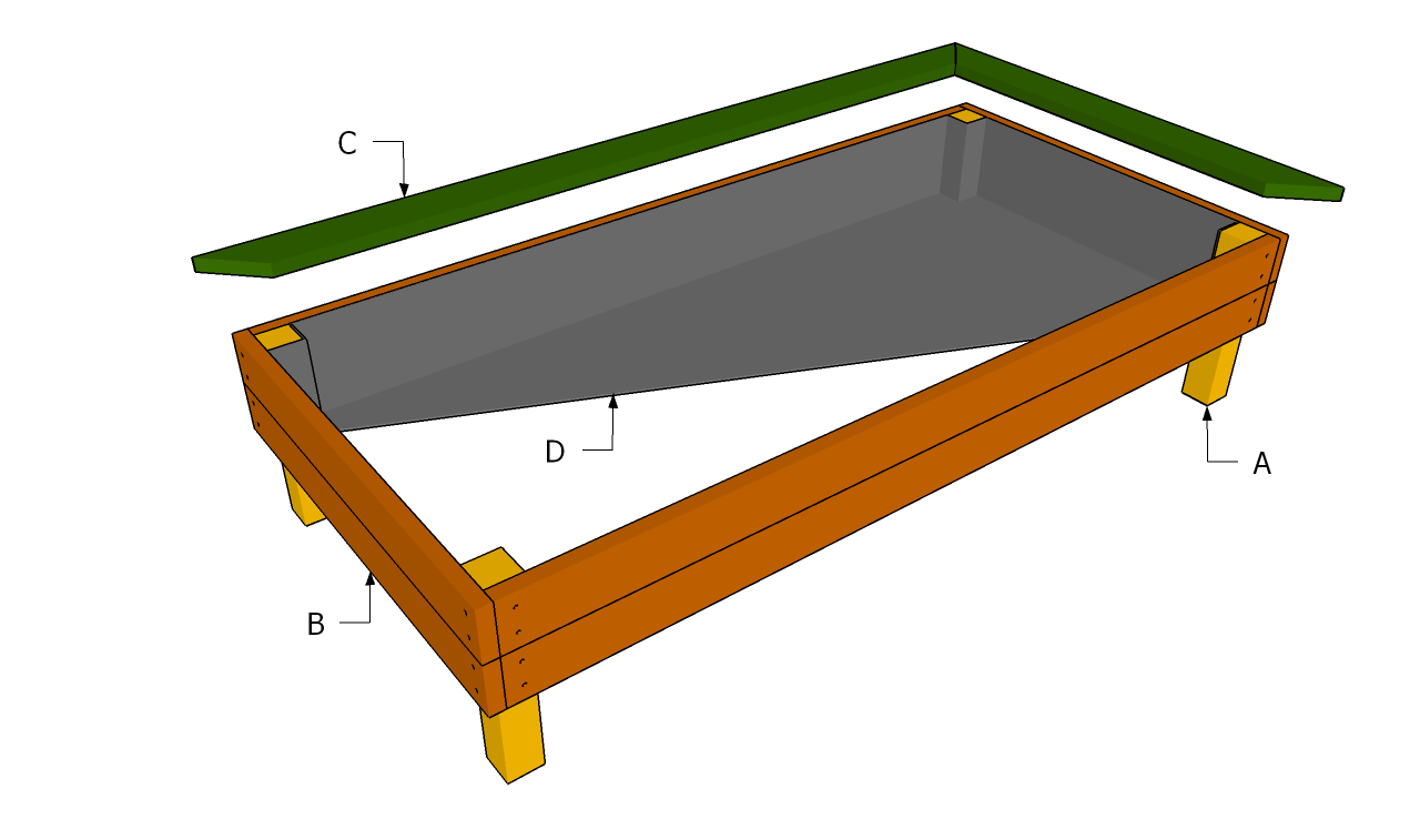 Elevated garden bed plans bed plans diy blueprints for Raised bed plans