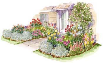 Flower bed plans bed plans diy blueprints for Cut flower garden designs