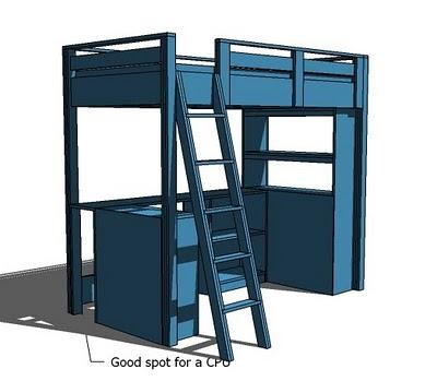 Free Loft Bed Plans Twin   BED PLANS DIY & BLUEPRINTS