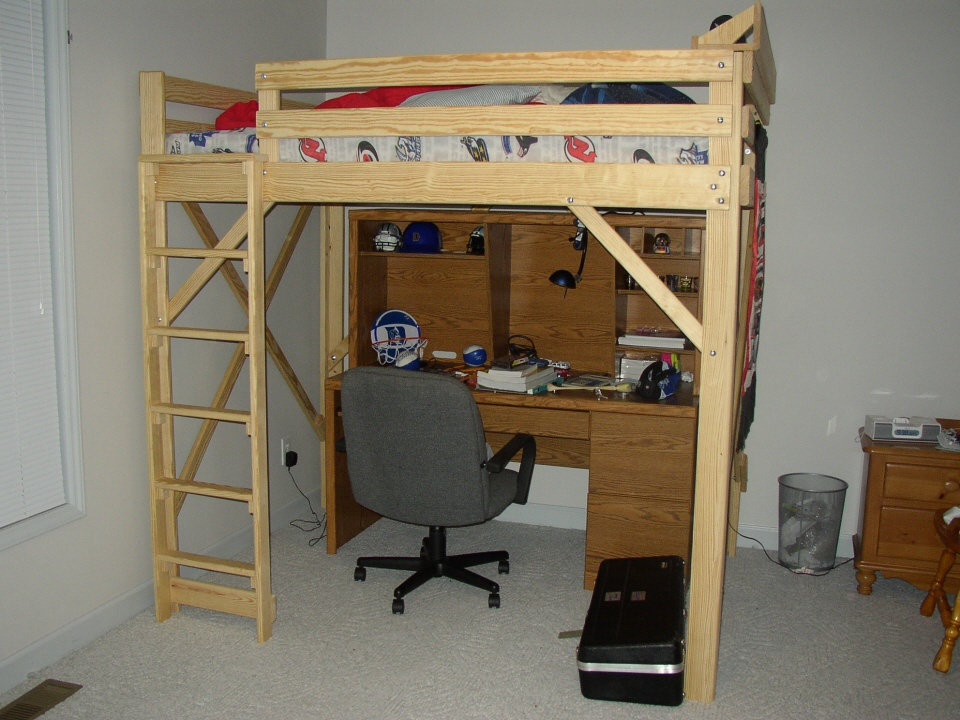 Full Size Loft Bed Plans Bunk Beds Advantage And