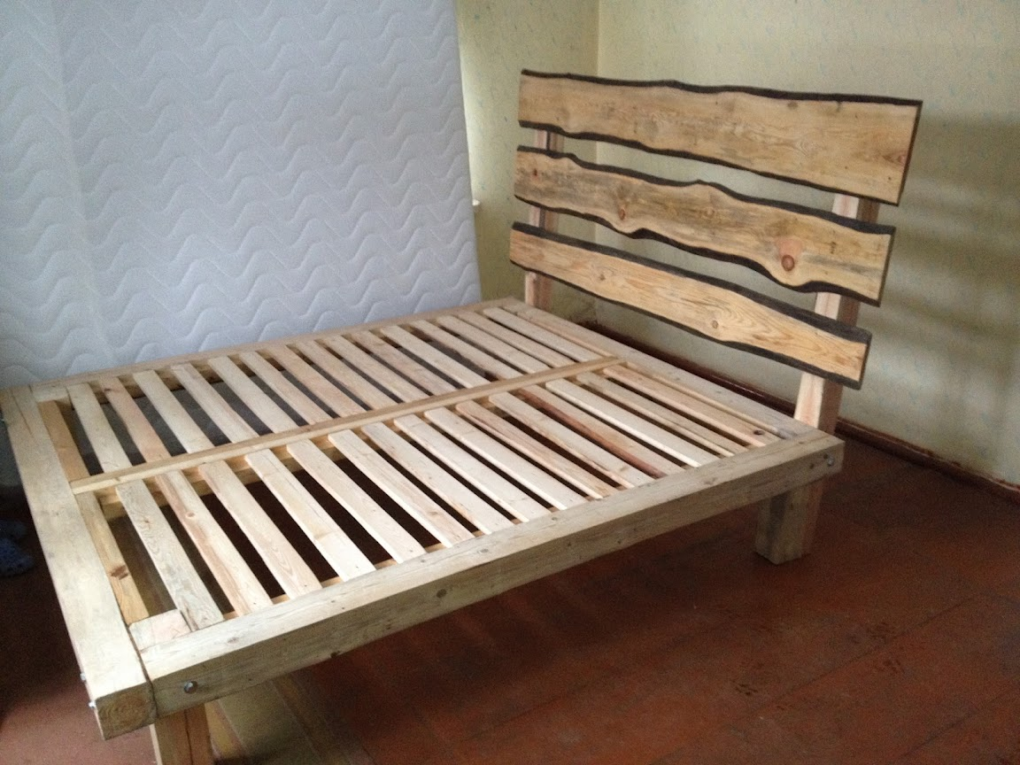 wooden bed frame design plans