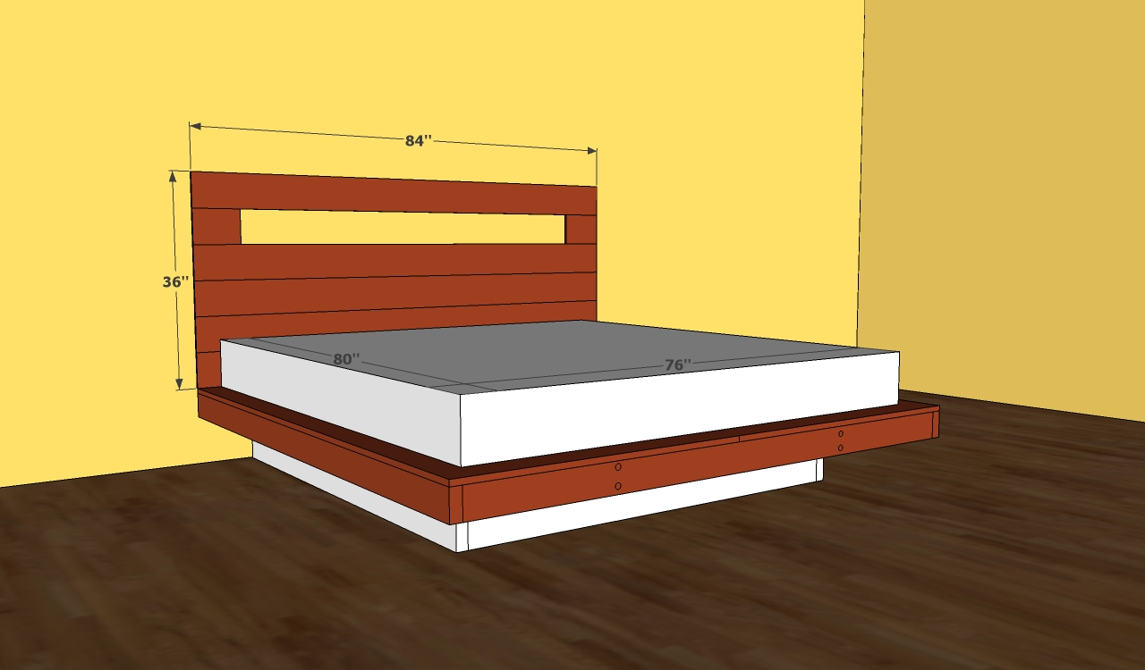 King bed frame plans bed plans diy blueprints for Bed frame plans