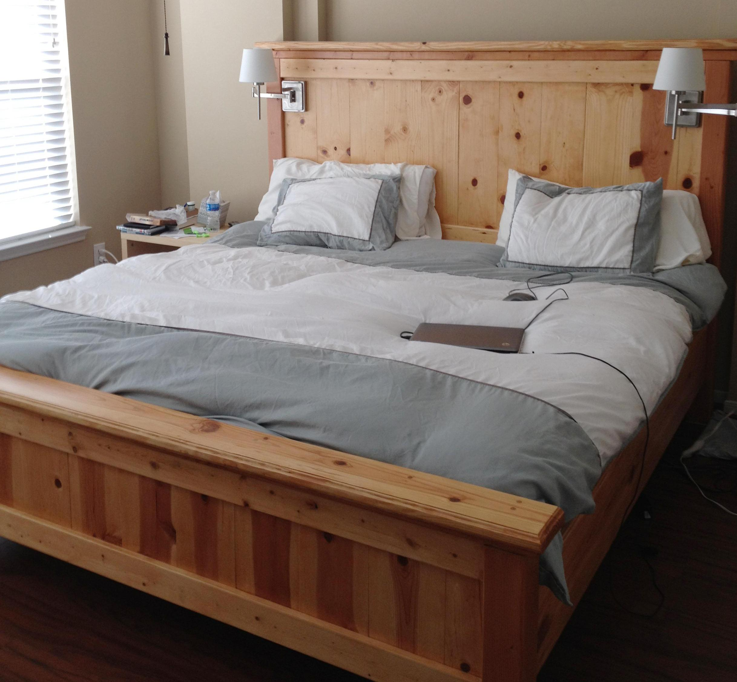 diy king size platform bed frame plans | Quick Woodworking Projects
