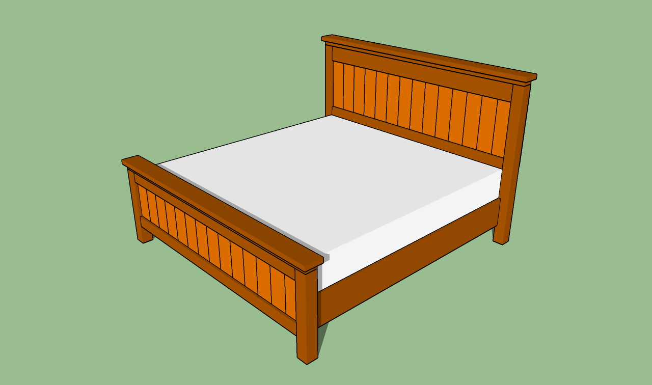 King size bed frame plans bed plans diy blueprints for King size bed frame and mattress