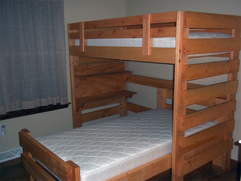 Free bunk bed plans pdf quick woodworking projects for Bunk bed woodworking plans