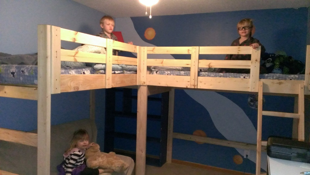 Picture of: L Shaped Bunk Bed Plans Bed Plans Diy Blueprints