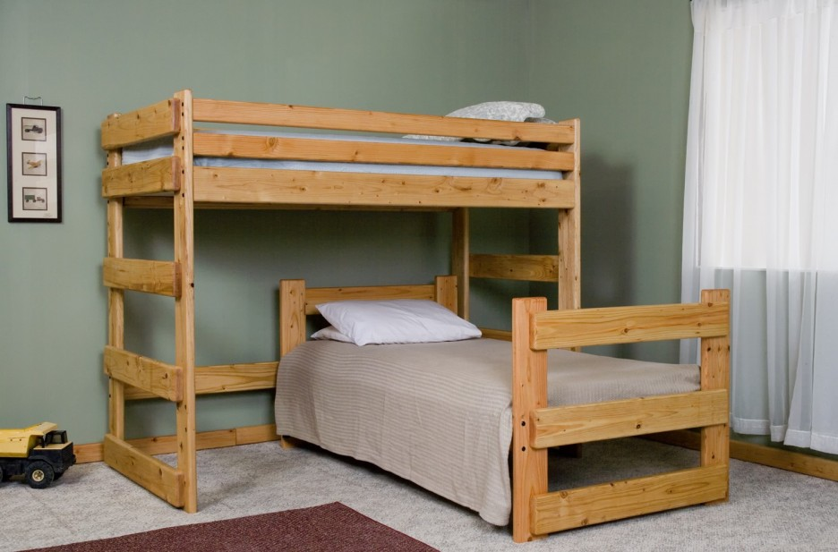 Bunk Bed Plan L Shaped Twin Over Twin Pictures to pin on Pinterest