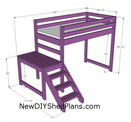 building plans for a loft bed