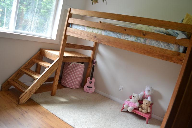 loft bed plans diy bed plans diy blueprints. Black Bedroom Furniture Sets. Home Design Ideas