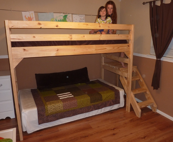 woodworking loft bed plans with stairs pdf free download - Free Loft Bed With Desk Plans