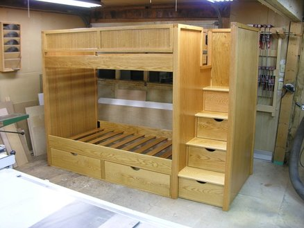 loft bed woodworking plans with stairs