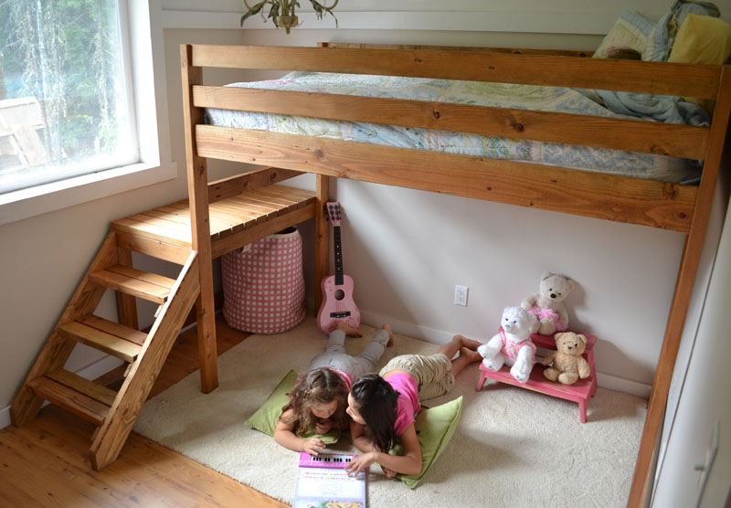 child loft bed woodworking plan