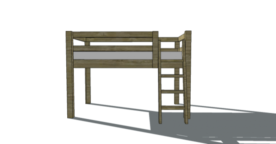 Loft Bed Woodworking Plans | BED PLANS DIY & BLUEPRINTS