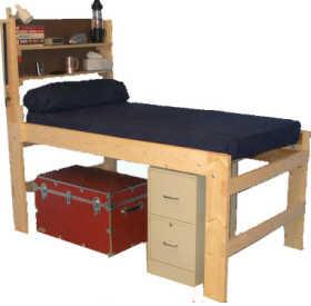 Low loft bed plans bed plans diy blueprints for Low bed frames for lofts