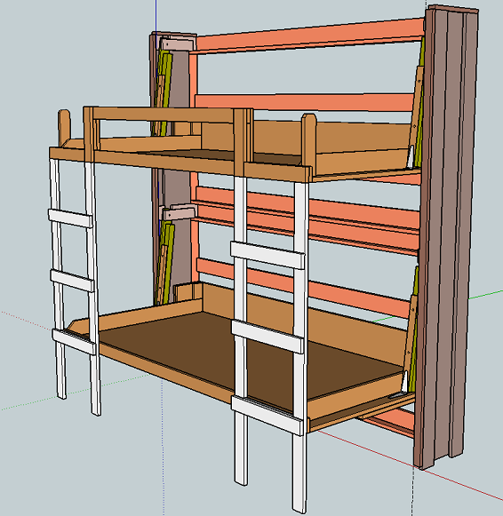 Murphy bunk bed plans bed plans diy blueprints Loft bed plans