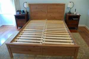 queen bed frame plans