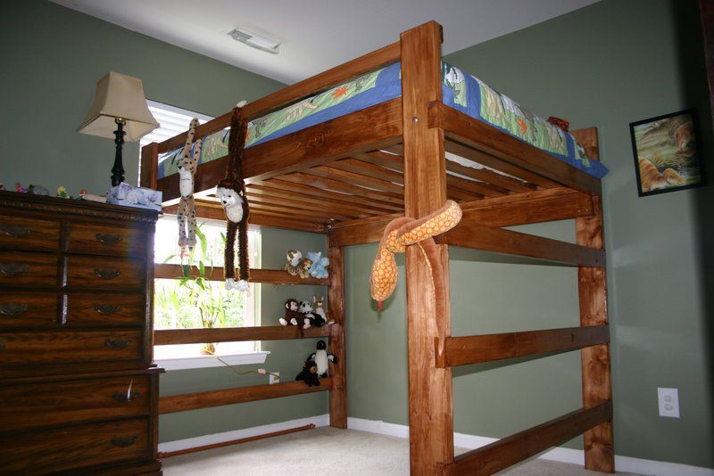 plans for building a full size loft bed | Cedar Woodworking Plans