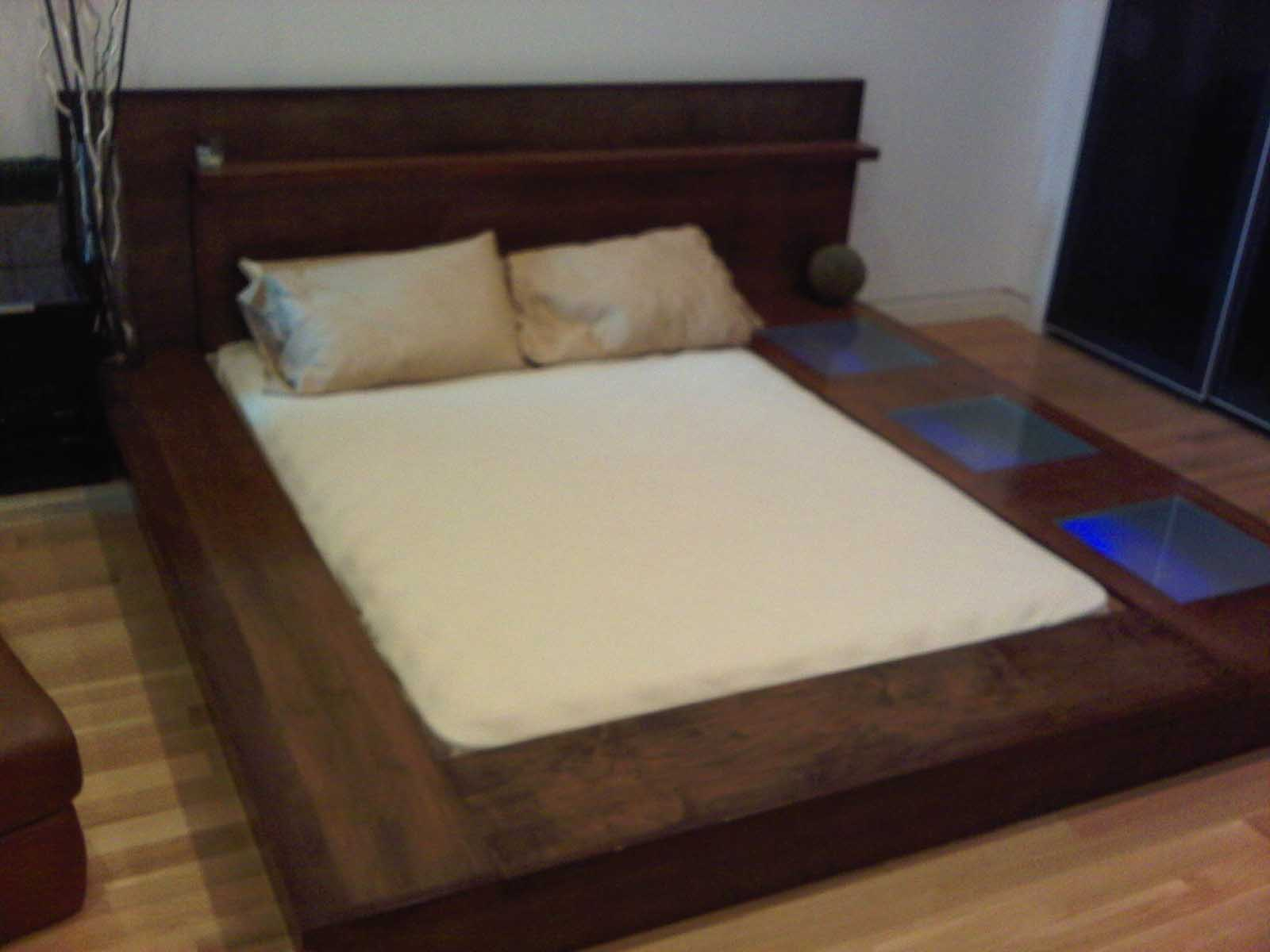 How to make a platform bed frame with storage underneath for King size bed designs