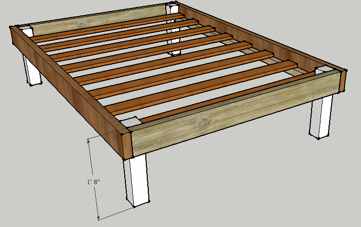 The Queen Size Bed Frame Plans The Queen Size Bed Frame ...
