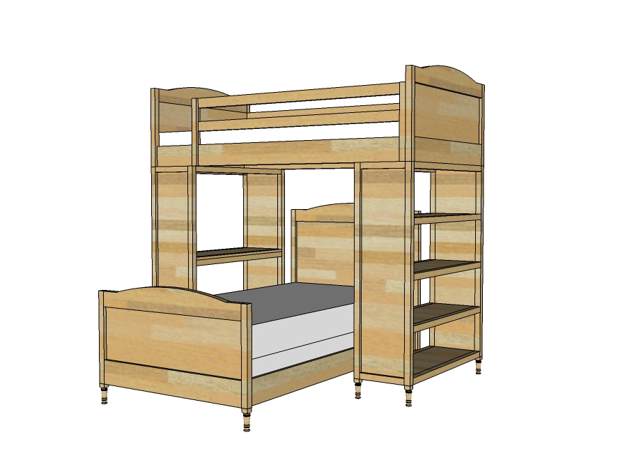 Simple Bunk Bed Plans Bed Plans Diy Blueprints
