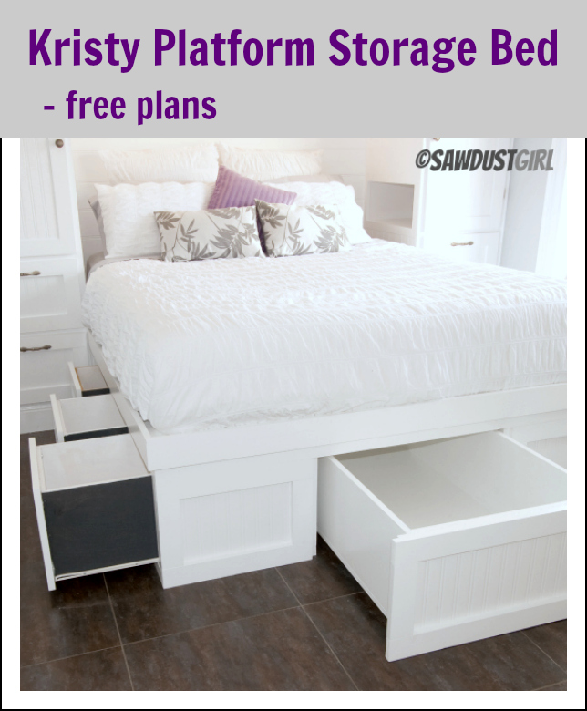 storage bed plans