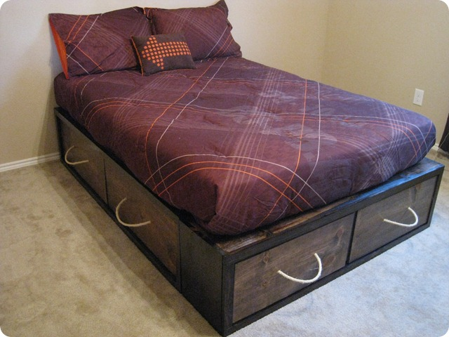 full bed frame with storage storage bed plans - Storage Bed Frame Full