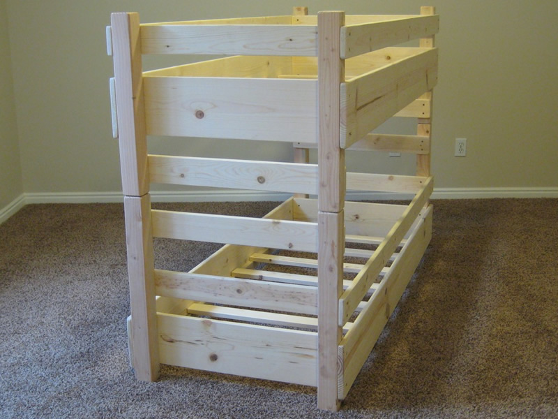 Toddler bunk bed plans bed plans diy blueprints for Bunk bed woodworking plans