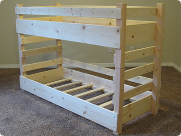 toddler bunk bed plans bed plans diy blueprints. Black Bedroom Furniture Sets. Home Design Ideas