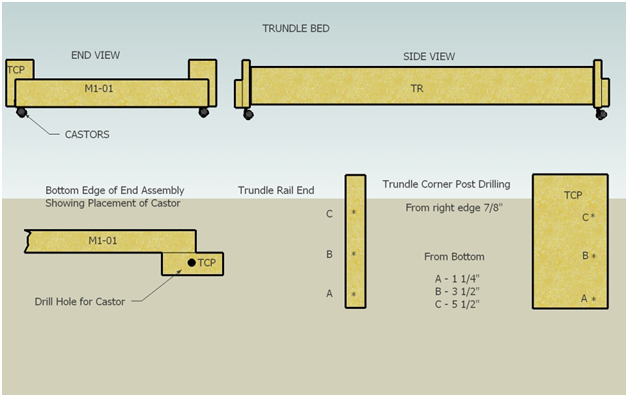 Trundle Bed Plans | BED PLANS DIY & BLUEPRINTS