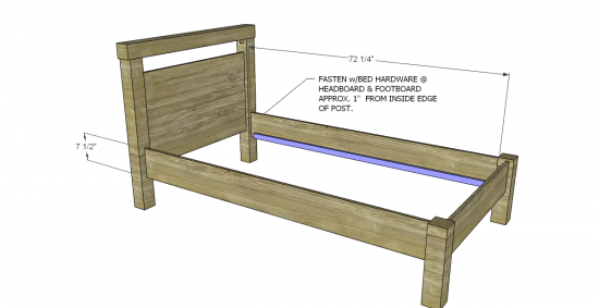 twin bed plans - Bed Plans.613 Platform Bed Plans Furniture Plans. Free  Murphy - Bed Side Rails IRA Design