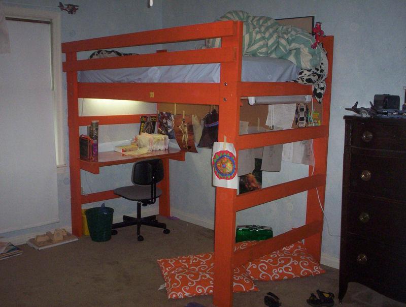 Twin Loft Bed Plans   BED PLANS DIY & BLUEPRINTS